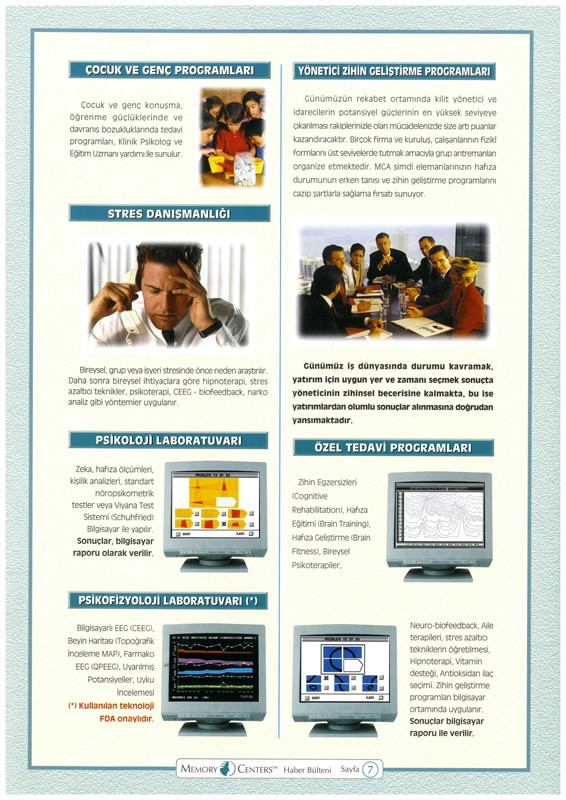 Memory Centers of America Laboratuvar ve Programları