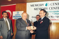The 'Strong Memory' Award to 9th President Of Republic Suleyman Demirel