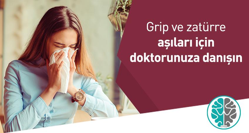 Grip ve zatürre aşıları için doktorunuza danışın